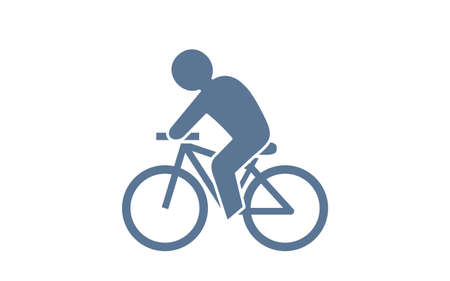 Icon that recommends commuting by bicycle Stock Illustratie