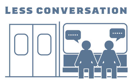 Icon recommending that you refrain from talking on the train