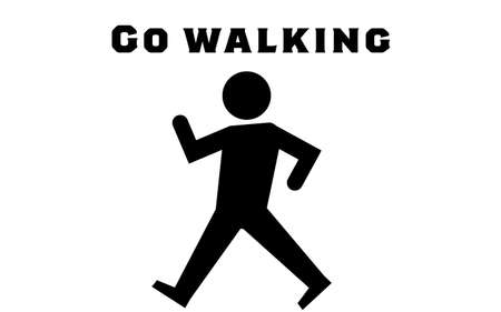Icon that recommends walking to work