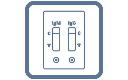 Illustration showing negative antibody test