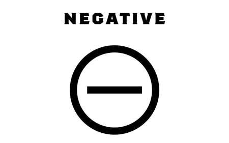 Illustration that the test showed negative