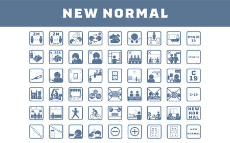 New normal icon set for preventing coronavirus infection