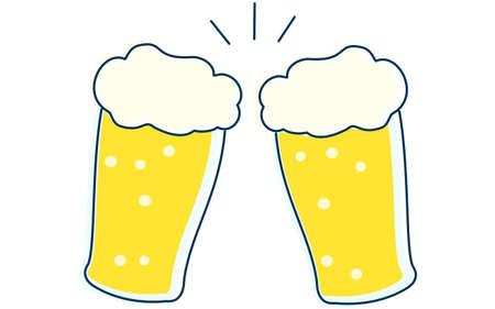 Image illustration toasting with beer Ilustração