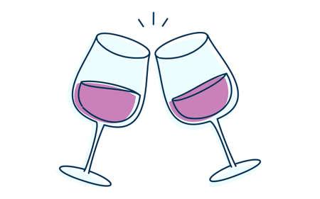 Image illustration of toasting with wine