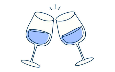 Image illustration of toasting with wine