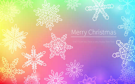 Christmas card studded with snowflakes  イラスト・ベクター素材
