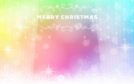 Background material with snowflakes and glitter