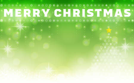 Snowflake and Christmas tree illumination background material