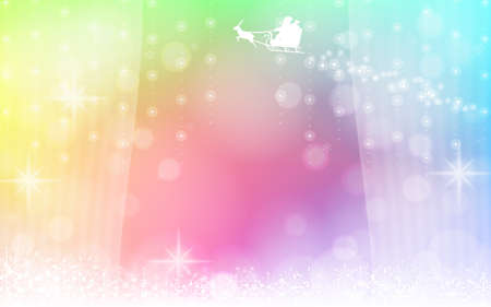 Background material of santa claus silhouette seen through the window 写真素材