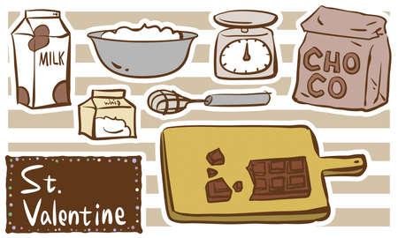 Valentine's Day handmade chocolate material series set