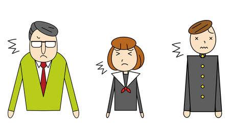 Student and teacher pattern illustration