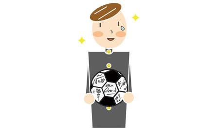 a boy in a school uniform