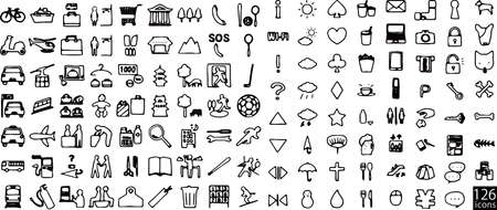 126 sets of hand-drawn icons