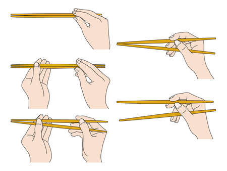 How to hold chopsticks beautifully