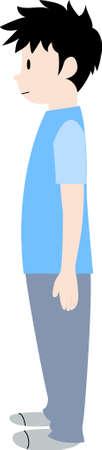 Correct posture Careful pose