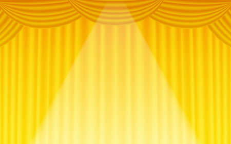 Background material for stage curtains in the spotlight  イラスト・ベクター素材