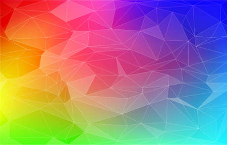 Background material, polygon-like rainbow gradient