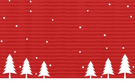 Christmas image fir tree and snow scene illustration Illustration