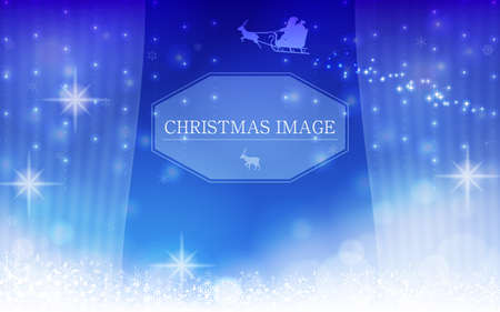 Glittering Christmas image background material with frame