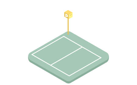Illustration of coin parking isometric