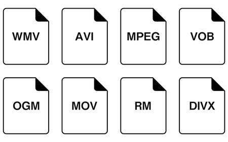 Simple icon set in file format