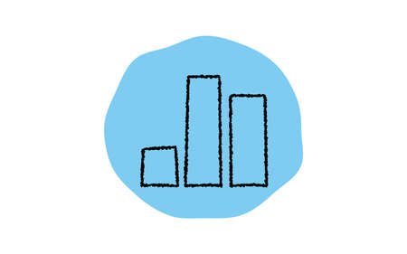 Simple graph icon, pencil writing style
