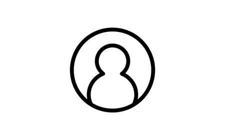 Simple profile icon, white background