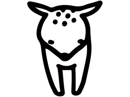 Animal line art fawn