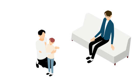 Isometric, LGBT, one of the sexual diversity, parenting of gay couples