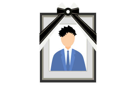 A man in a suit reflected in the deceased