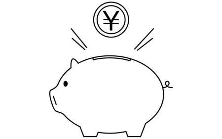 Image of savings, piggy bank and coins Vektorgrafik