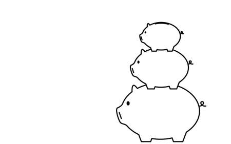 Image of savings, piggy banks piled up