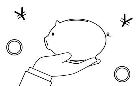 Image of savings, hand holding a piggy bank