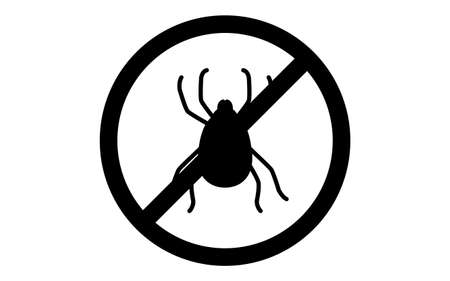 A simple icon for pest control, ticks