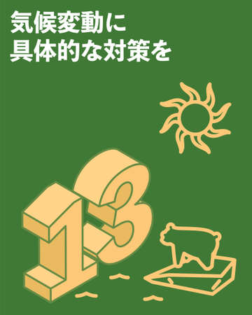 SDGs Goal 13, Climate action - Translation: Climate action