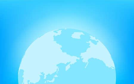 Earth glowing blue (Northern Hemisphere)