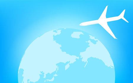 Blue Earth (Northern Hemisphere) and Airplane