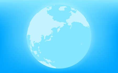 Earth glowing blue (Eurasia and Pacific Ocean) Illusztráció