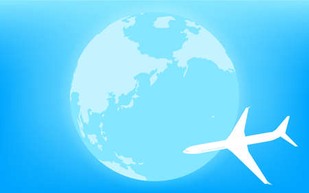Blue Earth (Eurasia and Pacific Ocean) and Airplane