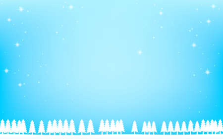 White fir tree and sparkling snowfall background