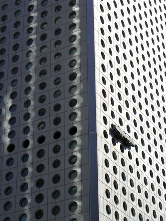abstract building having windows cleaned Stock fotó
