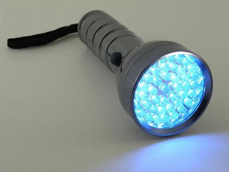 LED zaklamp ingeschakeld voor Stockfoto - 379650