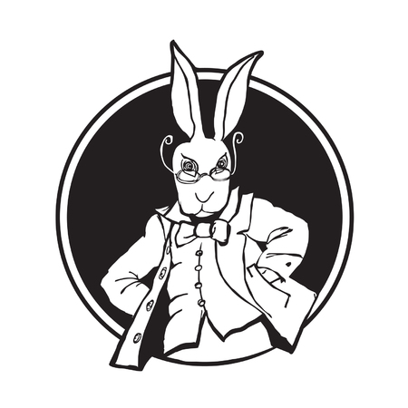 lapin blanc: illustration lapin blanc