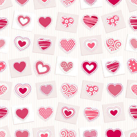 bright pink hearts Seamless background