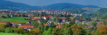 Panoramic images of the historic town of Bad Wildungen in Hessen. Standard-Bild