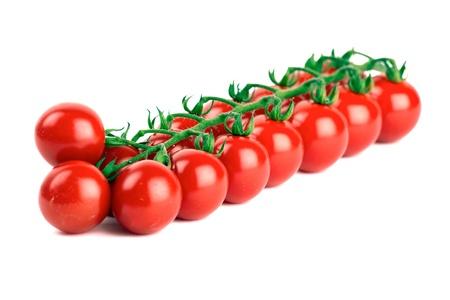 Cherry tomatoes isolated on white background Standard-Bild