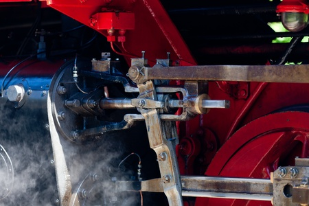 Detail detailed photo of a historic steam locomotive in Baltic Sea resort Kuehlungsborn photo