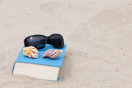 Read and relax on a sandy beach Stock Photo - 13967640
