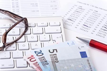 bank overschrijving: Online bankieren, overschrijving met tan lijst op de computer