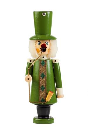Christmas Smoker of wood isolated on white background Stock Photo - 20239545